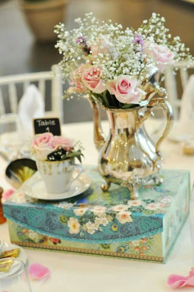 bridal shower teparty decorations%0A See Maureen C  Weddings  u     Events on WeddingWire  Find this Pin and more on Tea  Party Inspired Bridal Shower