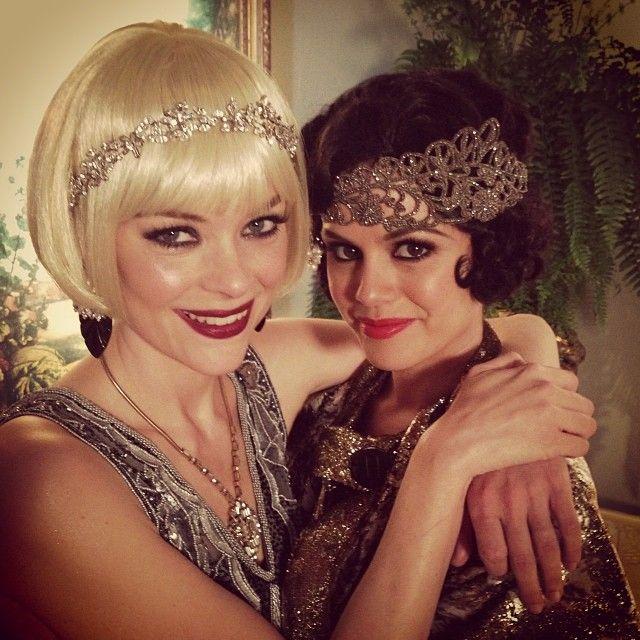 Jaime King & Rachel Bilson; The Hart of Dixie --- LOVE the makeup!  Look up grandma Betty breland's costume.