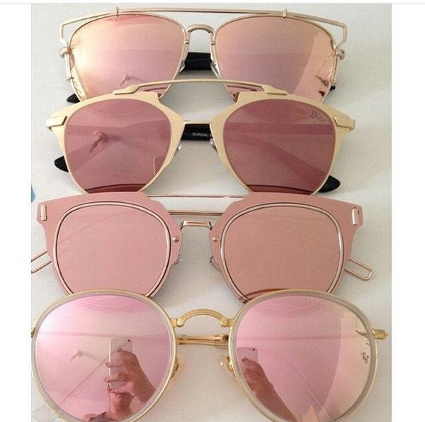 "Rose-tinted sunglasses. Gives a different meaning to ""La Vie en Rose"" ➳ Pinterest: radicalpenguin"