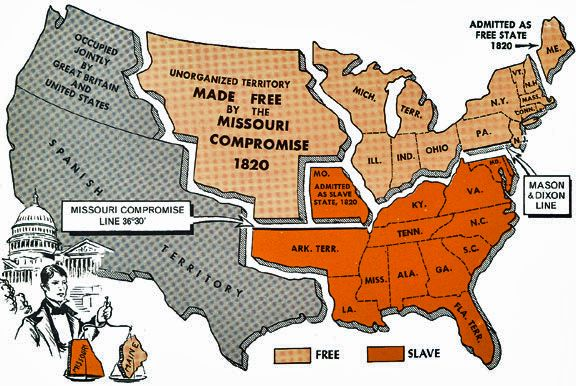Missouri Compromise of 1820 it was proposed by the war hawk Henry Clay to regulate the growth of slavery in the growing western United States