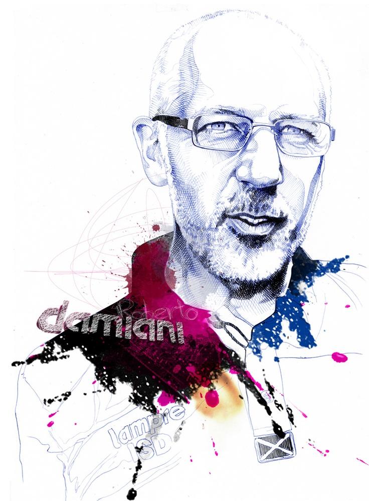 Roberto Damiani illustration for Procycling magazine by David Despau