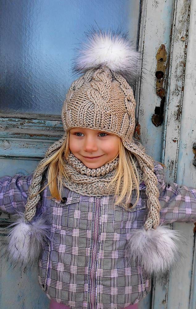 Detské čiapky - vrkočikovy set - 4855968_