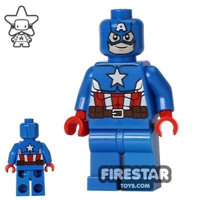 LEGO Super Heroes Mini Figure - Captain America - Blue Suit