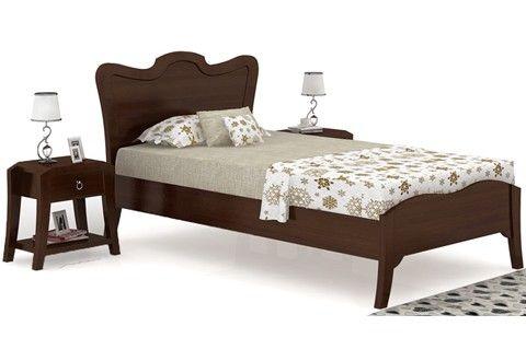 Cooper Single Bed (Walnut Finish)