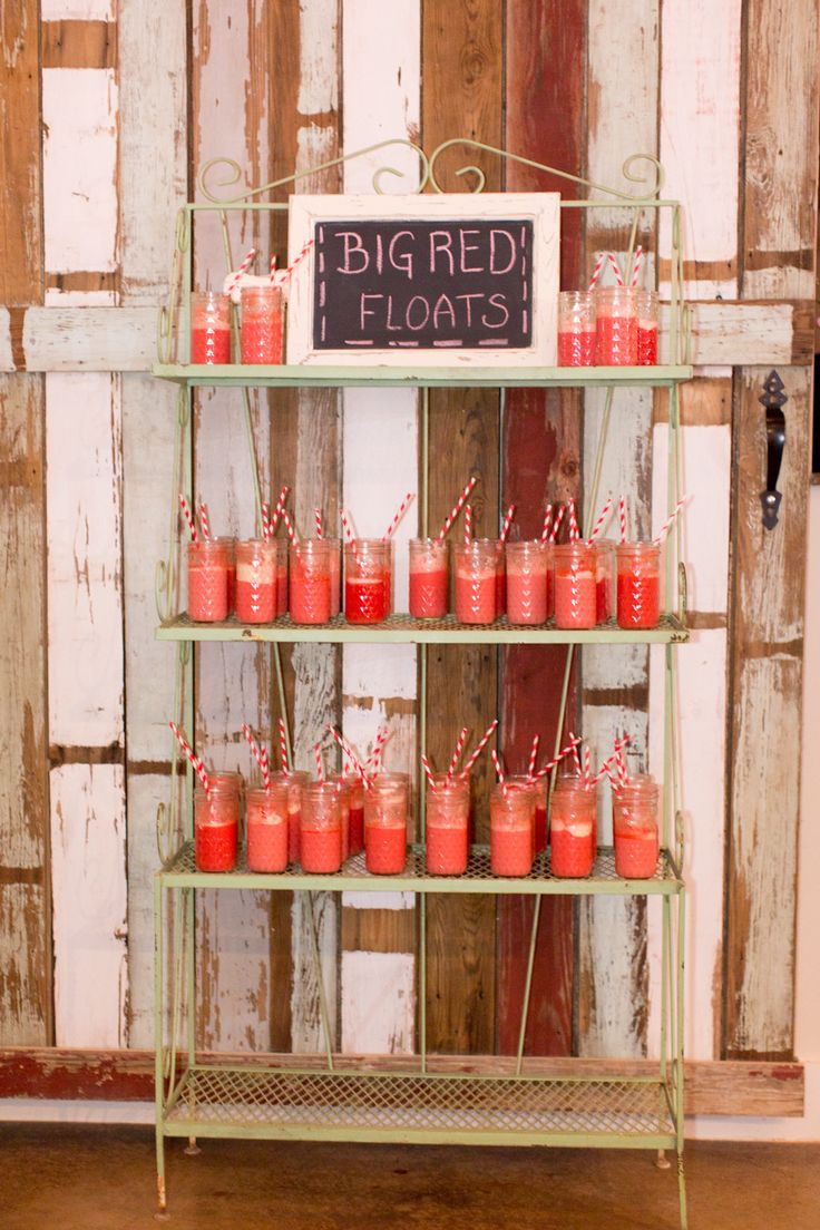 Big Red Floats at Pecan Springs Ranch Photography: Tara Welch Photography - www.tarawelchphotography.com  Read More: http://www.stylemepretty.com/southwest-weddings/2014/04/02/pecan-springs-ranch-wedding/