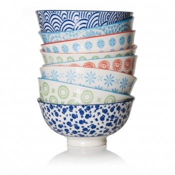 Japanese Blue Trellis Bowl | Unique Dining & Tableware | Unusual Dining, Dinner Sets & Tableware | Living | Homeware | Oliver Bonas