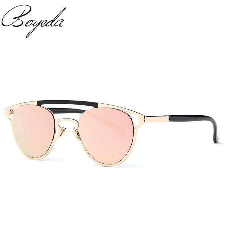 2017 Brand Designer Women Butterfly Sunglasses Fashion Women Twin-Beams Coating Mirror Metal Sun Glasses Female Sunglasses UV400