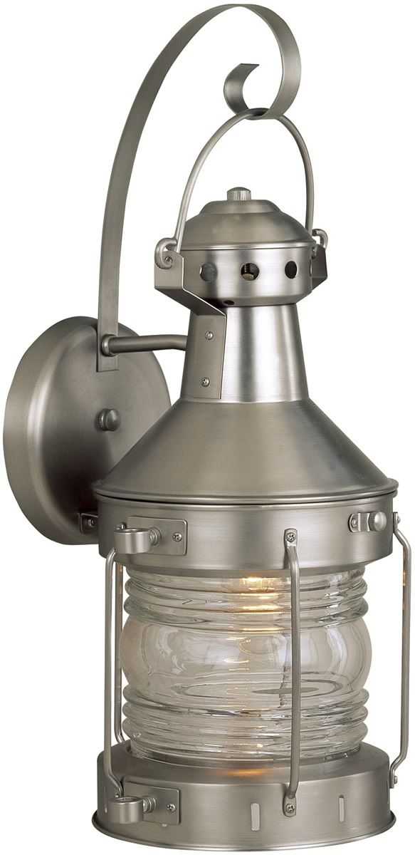 18 Inchh Nautical 1 Light Outdoor Wall Brushed Nickel