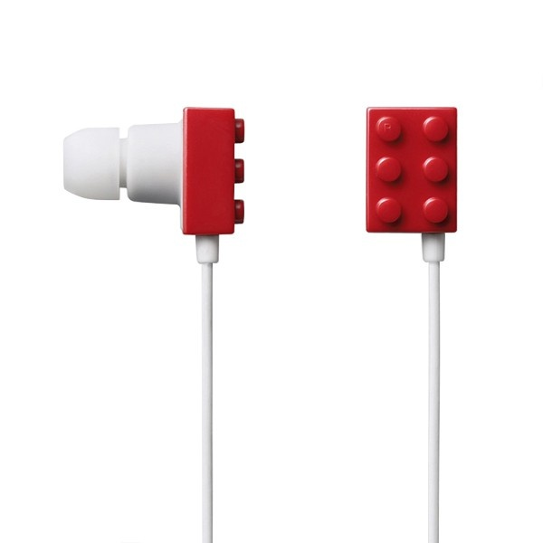 Elecom Headphones: Block Head? Available in Black, Red, White, Pink, Blue and Mix, $36.95 #Headphones #LEGO #Elecom