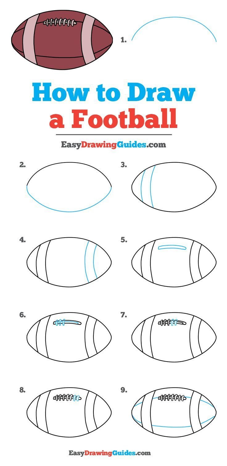 How To Draw A Football Drawing Tutorial Easy Drawing Tutorials