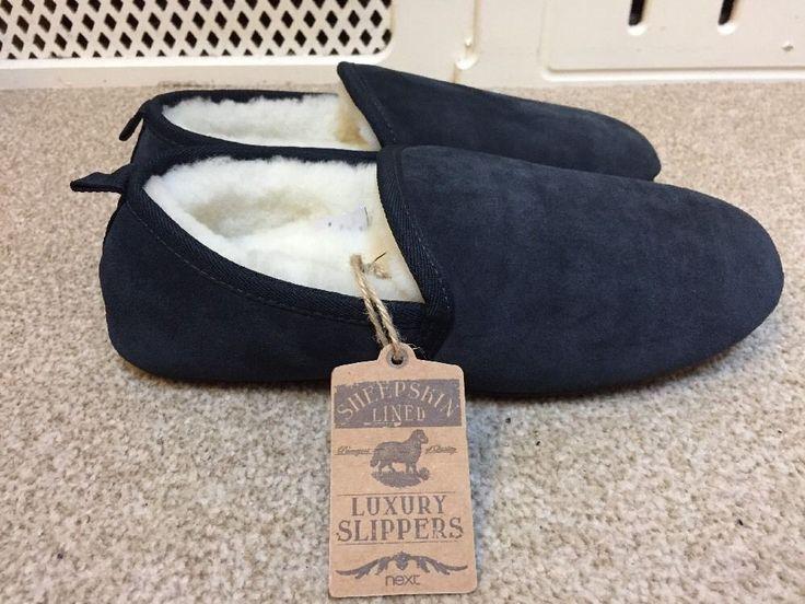 NEXT Unisex LUXURY SHEEPSKIN LINED SLIPPERS/Shoes UK7 EU41 BNWT RRP£40
