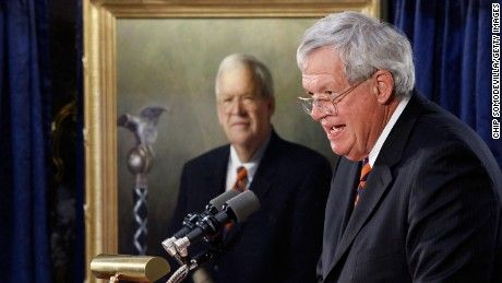 "Federal officials have indicted Dennis Hastert for lying to the FBI about $3.5 million he agreed to pay to someone to ""cover up past misconduct."""