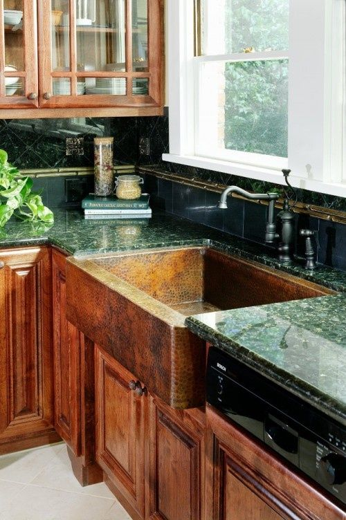 Ranch Style Sink : ... Ranch style kitchen makeover / Great colors, love the copper sink