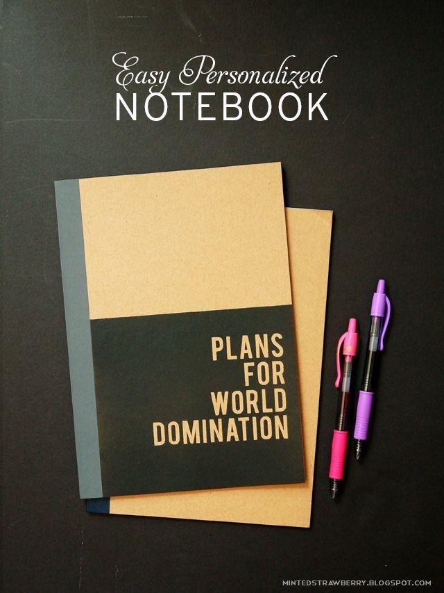 Make a Custom Notebook @mintedstrawberry.blogspot.com #