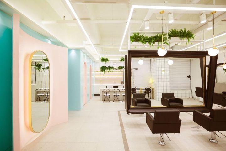 Http Retaildesignblog Net 2018 02 25 The Mode Hair By Ssomoo Design Uijeongbu South K Salon Interior Design Wallpaper Interior Design Interior Design Gallery