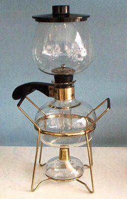vintage vacuum coffee maker.