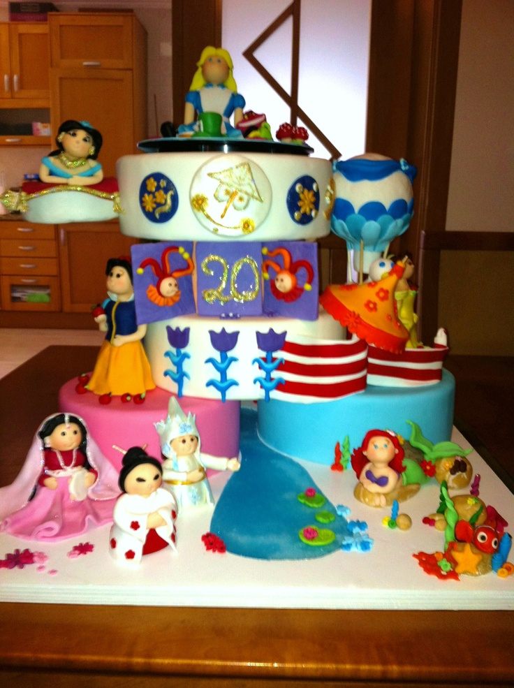 Disney Themed Cakes its a small world Cakes Pinterest