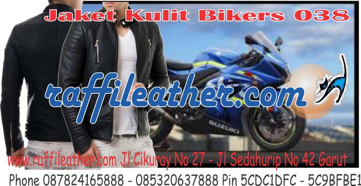 "(1) Twitter ""Jaket Kulit Bikers 038 klick untuk order ~> http://goo.gl/RkcRFi #jaketkulit"""