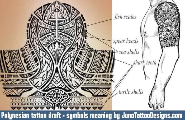 Polynesian Cross Tattoos