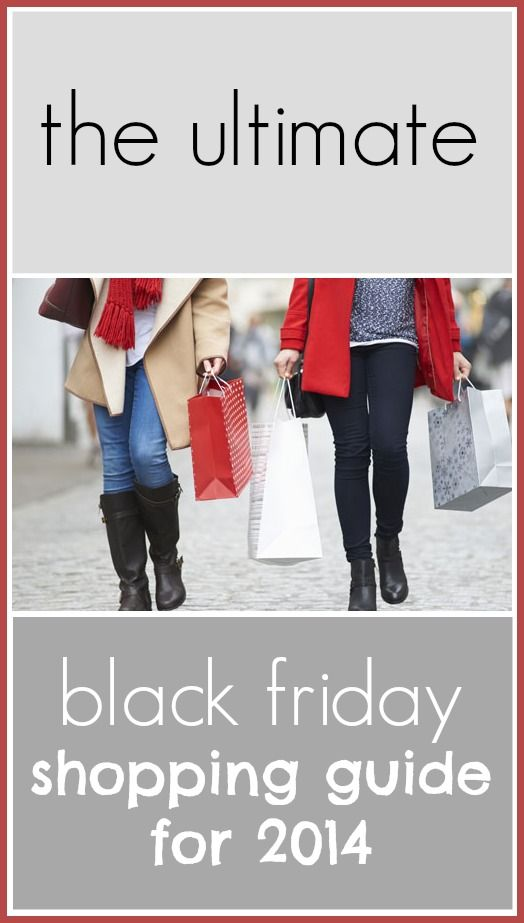The ultimate Black Friday shopping guide for 2014: Insider tips and tricks for saving the most money when shopping during Black Friday this year.
