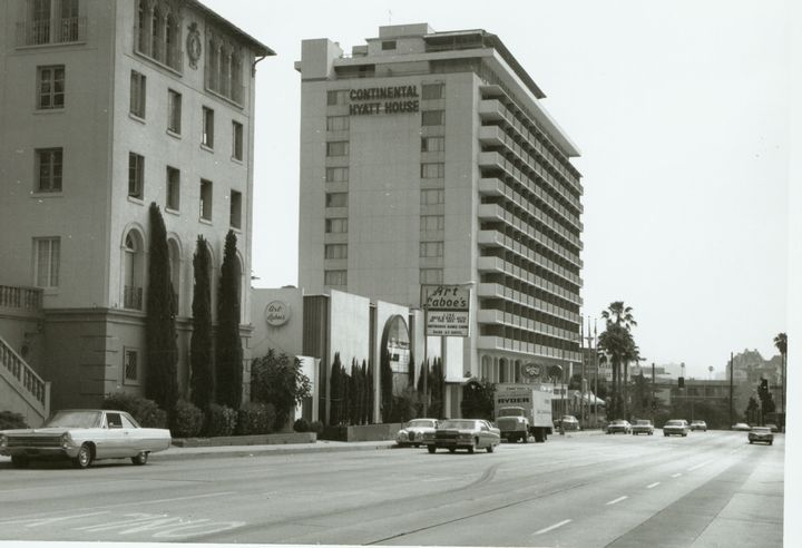 Continental Hyatt Hotel on the Sunset Strip -- and note ...