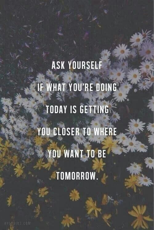 Very good question to ask oneself