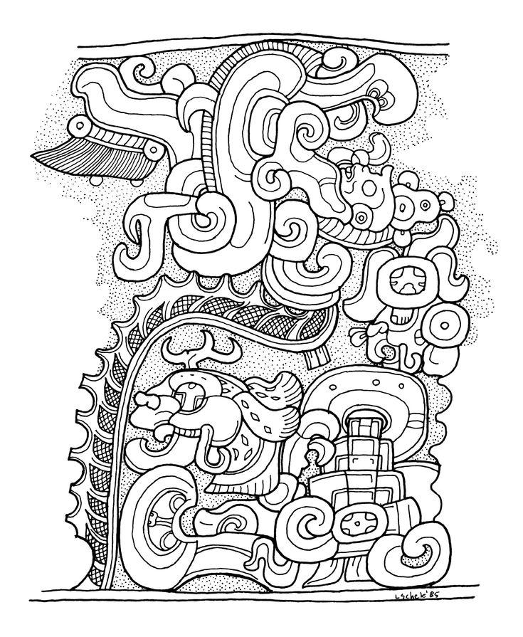 Line Art Jungle : Más de ideas increíbles sobre jeroglíficos mayas en