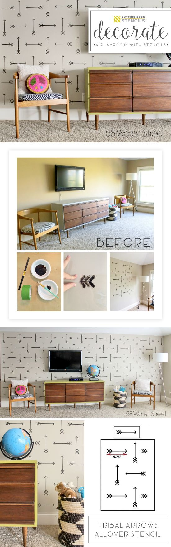 62 best Stencil,Wall Decals,Wallpaper images on Pinterest | Wall ...