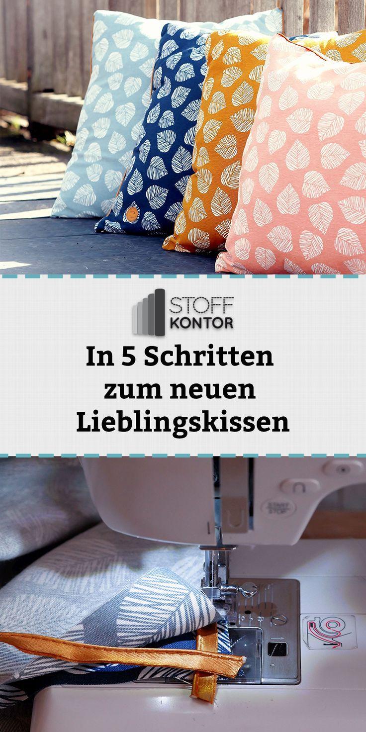 Nähe in 5 Schritten dein Sommerkissen mit verstecktem Reißverschluss #Schminktisch #Kissen #Upcycling #ideen #Sommerdeko #Kommode #Lichterkette
