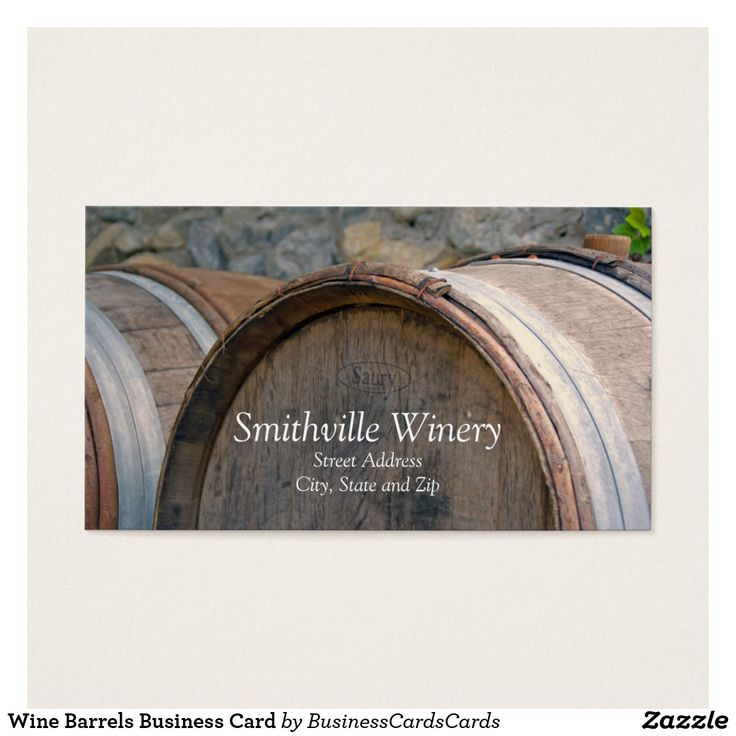 Wine Barrels Business Card Custom Check out more business card designs at http://www.zazzle.com/business_creations or at http://www.zazzle.com/businesscardscards