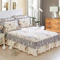 Wish   the new fashion cotton bedspread bed skirt queen size bed sets