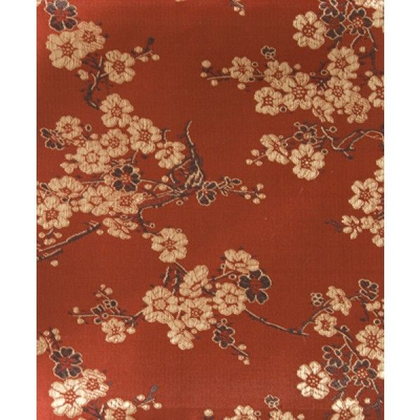 Oriental Brocades, Red With Gold Blossom - Brocade - Lincraft