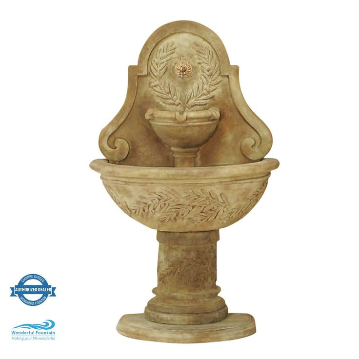 Oliva Garden Wall Fountain with Free Pump and Spout