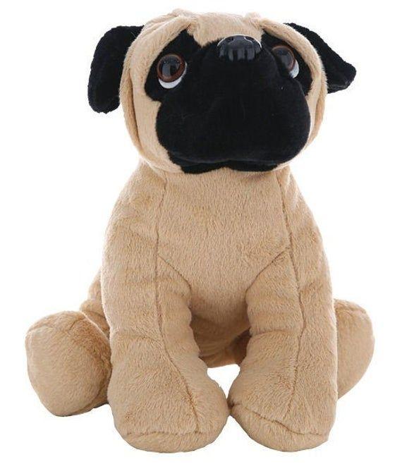 Recordable 16 Plush Pug Dog W 20 Second Digital Voice Recorder