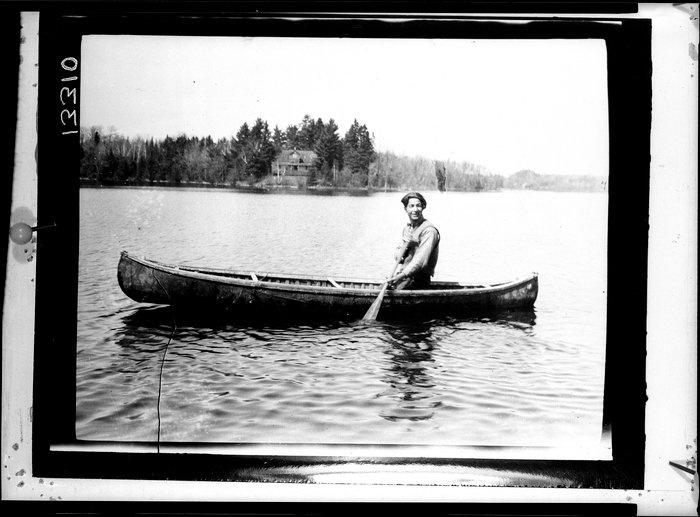 Matthew Bernard on Golden Lake in Ontario - Algonquin - 1927