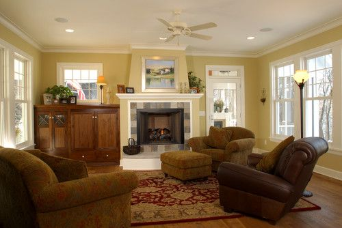 Country living room paint schemes country home living for Country home interior paint colors