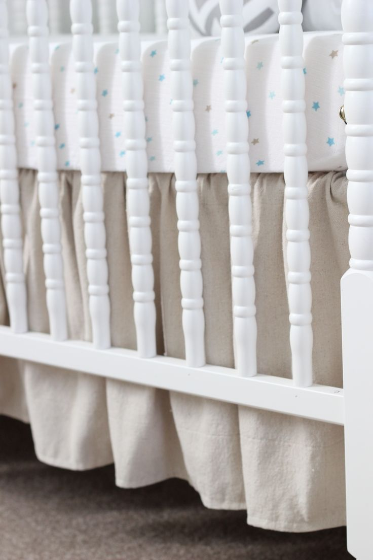 DIY ruffled crib skirt