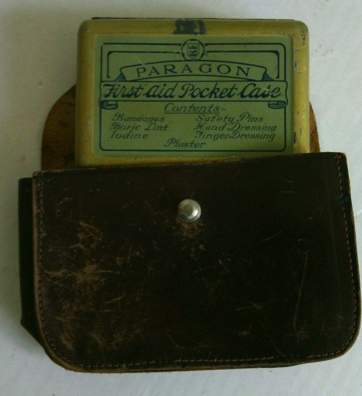 Vintage First Aid Pocket Tin 1930's with Bukta Leather Case Paragon CPR Face Med   eBay