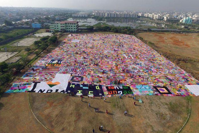 World's largest crochet blanket: Guinness Book of World Records 2016