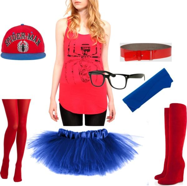 """Spiderman Halloween Costume!"" by dasunis on Polyvore"