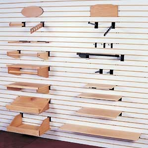SLAT WALL!!!! Perfect for retail store and/or offices. Lets them be versatile and utilize the walls.