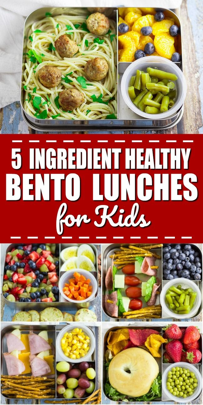 5 Ingredient Bento Box Lunches for Kids for a Week - If you're looking for some easy, creative, and healthy school lunch ideas for kids, check out these super simple 5 ingredient bento box lunches for kids for a WHOLE WEEK! #ad @libbystable