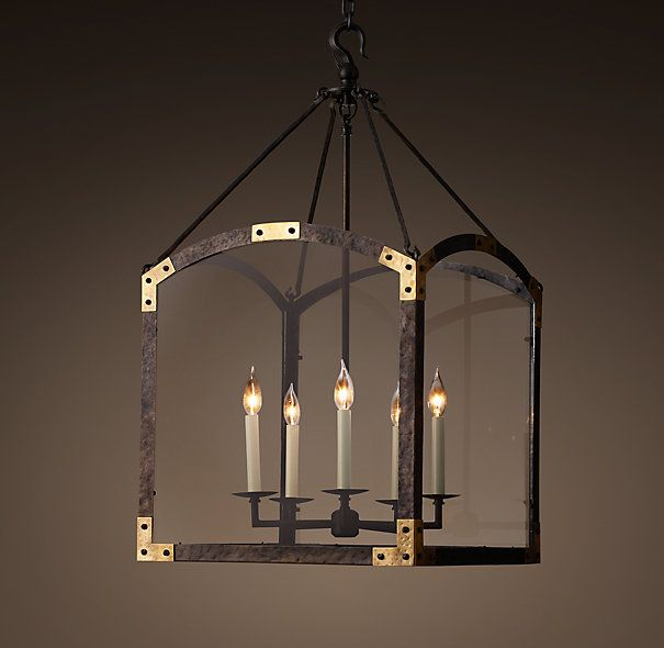 Arched maison lantern pendantsquare lanterns such as this have illuminated europes grand hallways since the ours recalls the form of an arched fireplace
