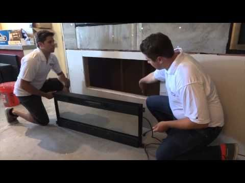How to Install a Napoleon NEFL50FH Modern Electric Fireplace Linear Into a wall mount - YouTube
