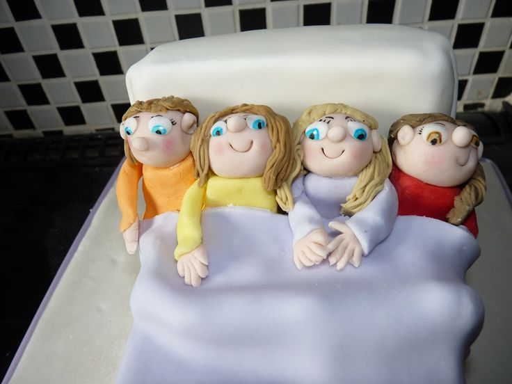 Sugarpaste models from sleepover cake (my daughter and her friends!)
