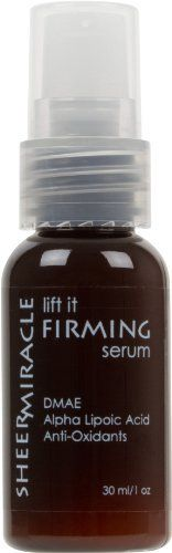 """Lift It Firming Serum with DMAE & Alpha Lipoic Acid 1 oz (Try it if you like Dr Perricone Advanced Face Firming Activator) by Sheer Miracle. $24.63. Powerful actives that firm and tone skin, correct sun damage, protect skin from harmful free radicals and impart a youthful glow.  You'll notice hydrated skin immediately, and firmer, lifted, sculpted, younger looking skin within weeks.   Lift It Firming Serum contains the active ingredients:  DMAE: Topical DMAE has been called """"..."""