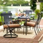 Hampton Bay Oak Heights 7-Piece Patio Dining Set with Cashew Cushions D12237-7PC at The Home Depot - Mobile