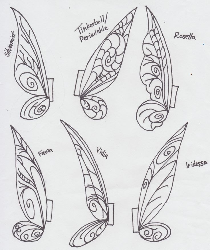 printable fairy wings template | Tinkerbell Clothespin Fairies