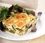 Lasagne au poulet et aux asperges