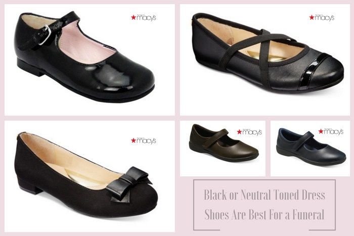 DO: Black or neutral toned dress shoes are appropriate funeral attire for girls. #loveliveson